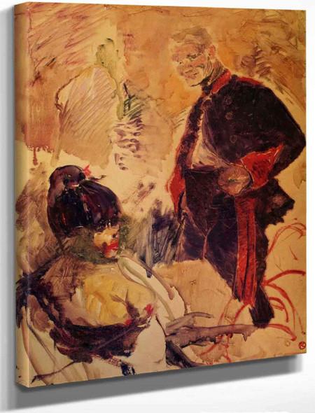 Artillerman And Girl By Henri De Toulouse Lautrec