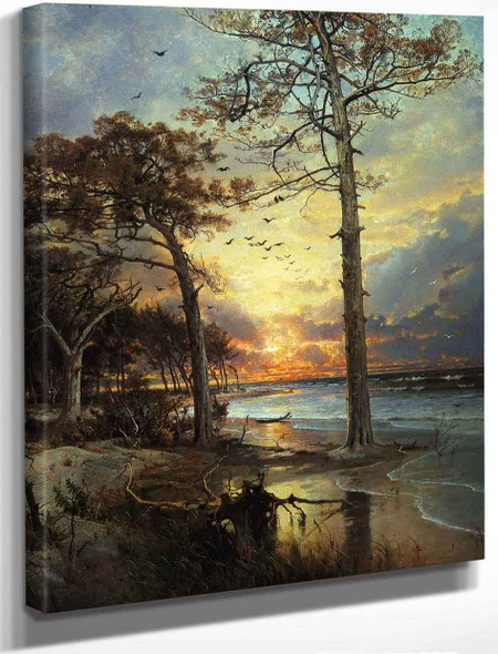 At Atlantic City By William Trost Richards By William Trost Richards