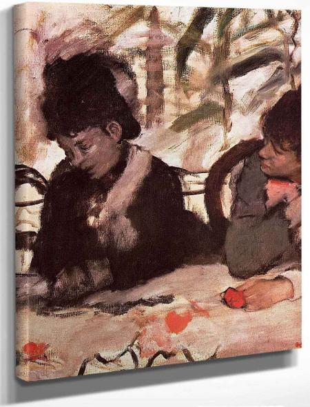 At The Cafe By Edgar Degas By Edgar Degas