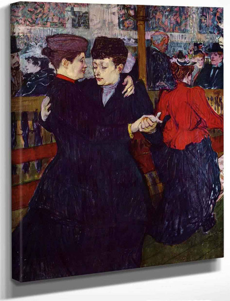 At The Moulin Rougethe Two Waltzers By Henri De Toulouse Lautrec