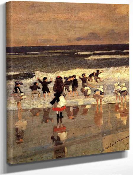 Beach Scene By Winslow Homer