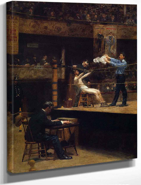 Between Rounds By Thomas Eakins By Thomas Eakins
