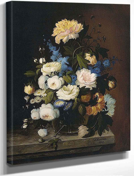 Bouquet Of Flowers By Severin Roesen
