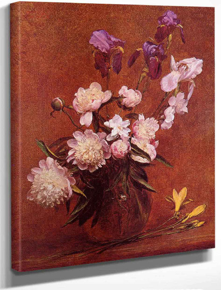 Bouquet Of Peonies And Iris By Henri Fantin Latour By Henri Fantin Latour