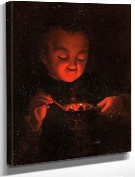 Boy With Glow Barrel By Godfried Schalcken