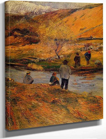 Breton Fishermen By Paul Gauguin By Paul Gauguin