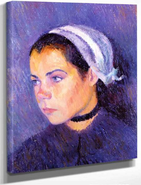 Breton Girl By Bernhard Gutmann