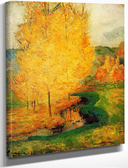 By The Stream, Autumn By Paul Gauguin By Paul Gauguin