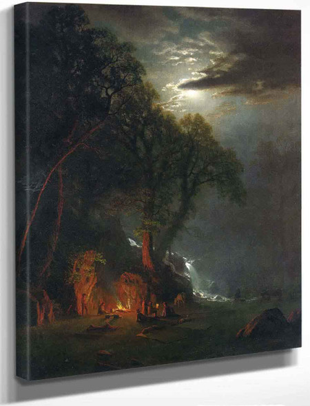 Campfire Site, Yosemite By Albert Bierstadt By Albert Bierstadt