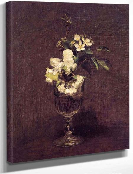 Cherry Blossoms By Henri Fantin Latour By Henri Fantin Latour
