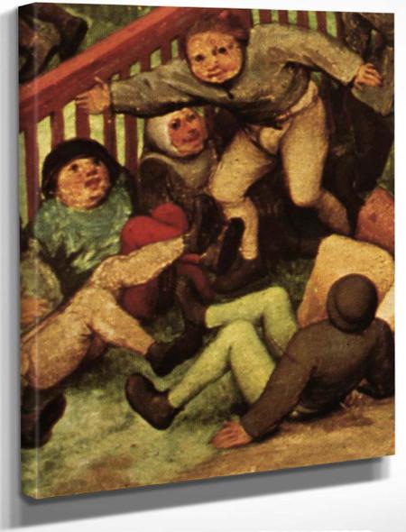 Childrens Games 14 By Pieter Bruegel The Elder By Pieter Bruegel The Elder
