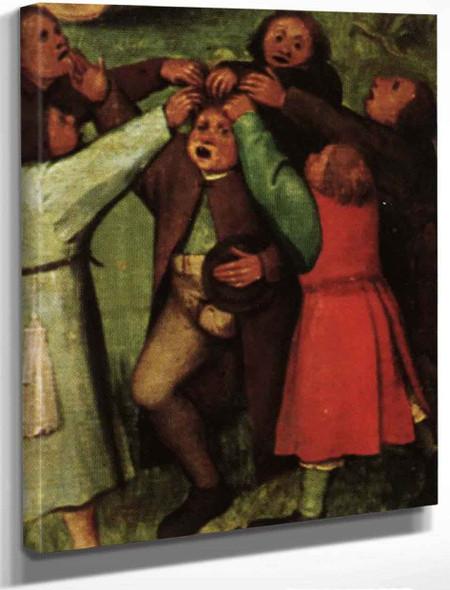 Childrens Games 17 By Pieter Bruegel The Elder By Pieter Bruegel The Elder
