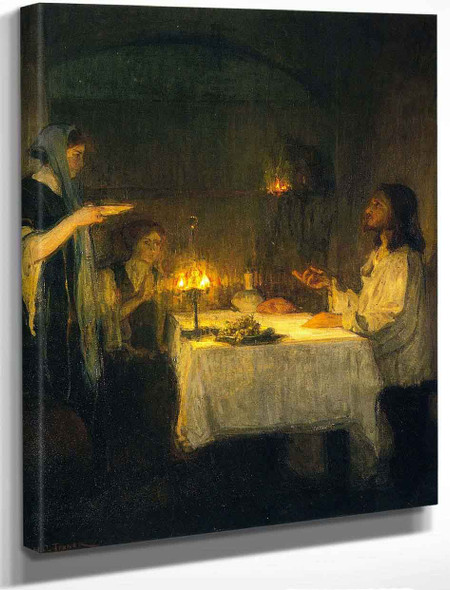 Christ At The Home Of Mary And Martha By Henry Ossawa Tanner