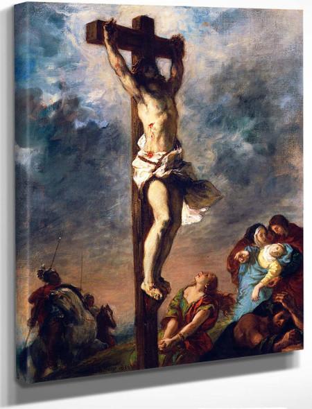 Christ On The Cross1 By Eugene Delacroix By Eugene Delacroix