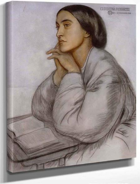 Christina Rossetti By Dante Gabriel Rossetti