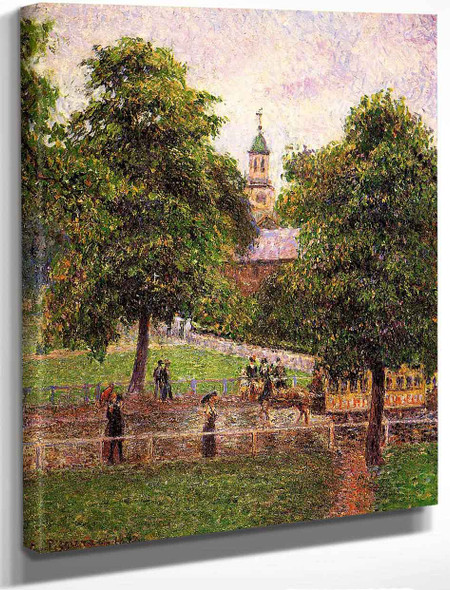 Church At Kew By Camille Pissarro By Camille Pissarro