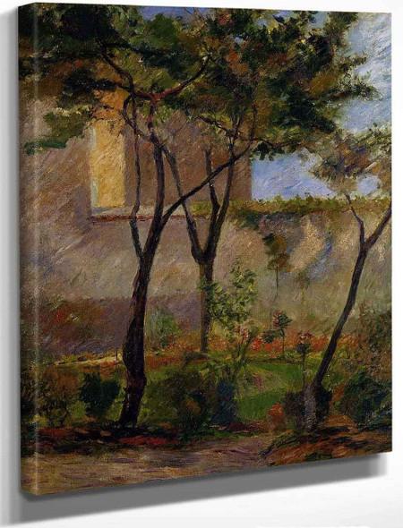 Corner Of The Garden, Rue Carcel By Paul Gauguin By Paul Gauguin