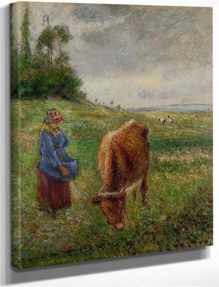 Cowherd, Pontoise1 By Camille Pissarro By Camille Pissarro