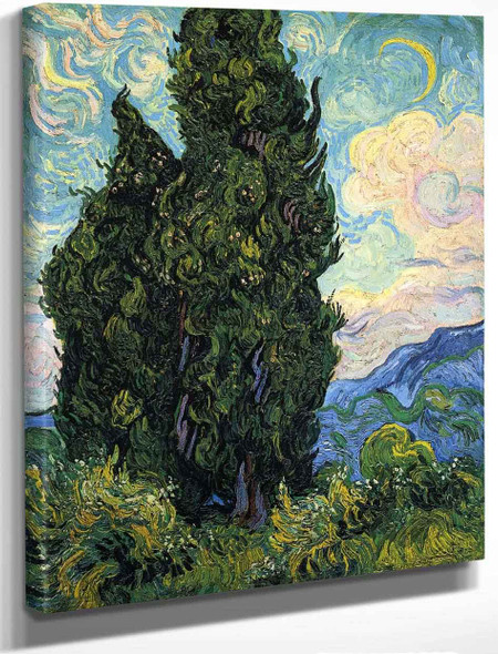 Cypresses1 By Vincent Van Gogh