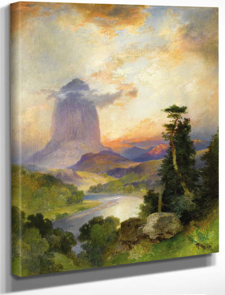 Devil's Tower, Green River, Wyoming By Thomas Moran By Thomas Moran