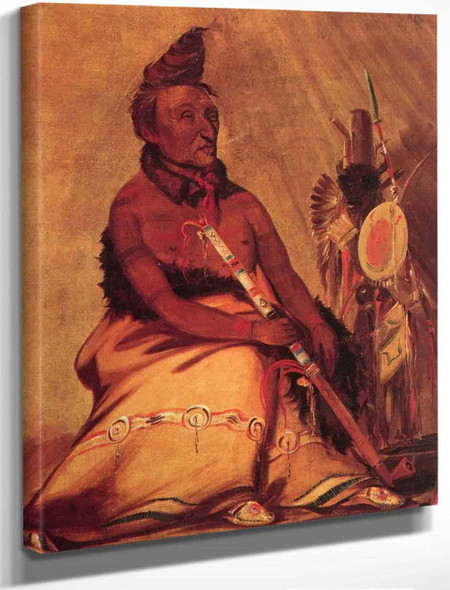 Eh Toh'k Pah She Pee Shah, Black Moccasin, Hidatsa By George Catlin By George Catlin