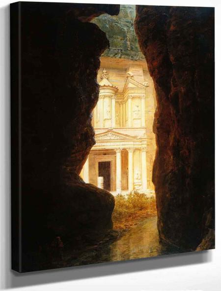 El Khasne, Petra By Frederic Edwin Church By Frederic Edwin Church