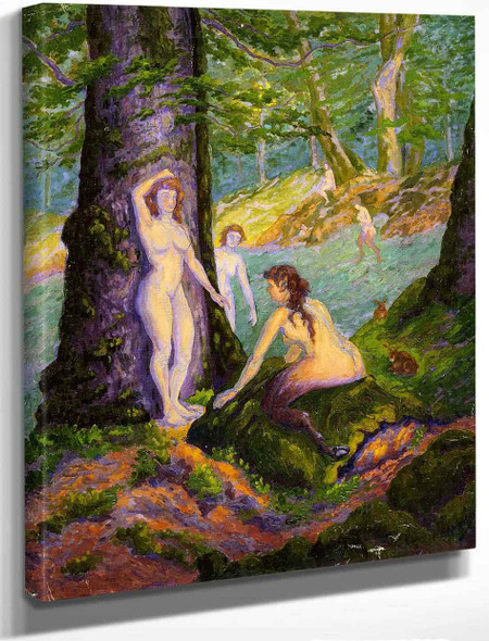 Female Nudes And Fauns By Paul Ranson