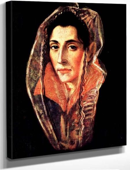 Female Portrait By El Greco By El Greco