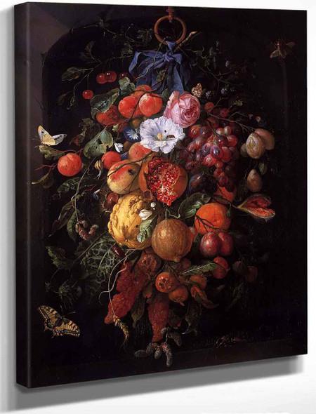 Festoon Of Fruit And Flowers By Jan Davidszoon De Heem By Jan Davidszoon De Heem
