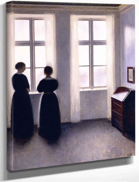 Figures By The Window By Vilhelm Hammershoi By Vilhelm Hammershoi