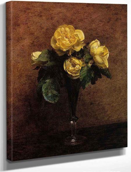 Fleurs Roses Marechal Neil By Henri Fantin Latour By Henri Fantin Latour