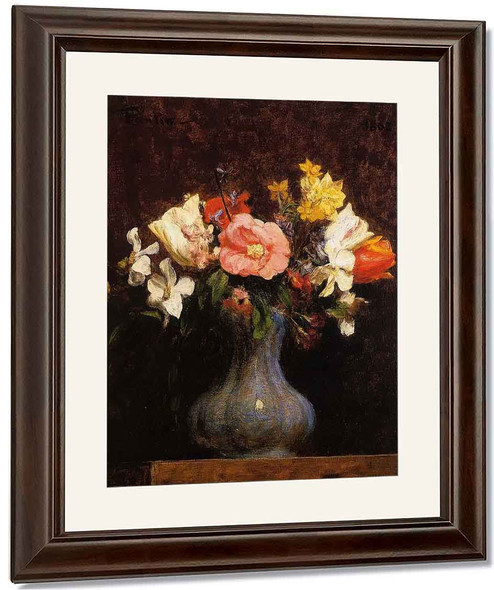 Flowers Camelias And Tulips By Henri Fantin Latour By Henri Fantin Latour