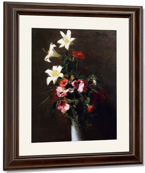 Flowers In A Porcelain Vase By Henri Fantin Latour By Henri Fantin Latour