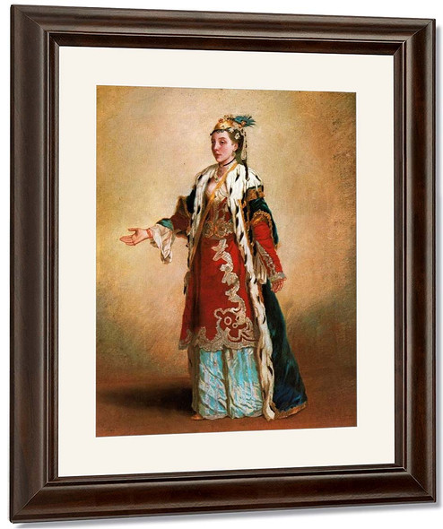 French Lady In Constantionople By Jean Etienne Liotard