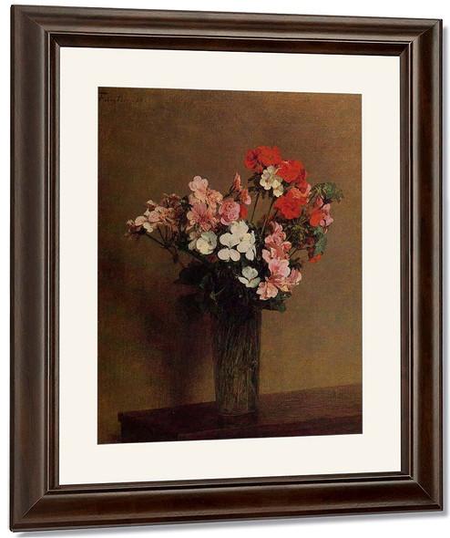 Geraniums By Henri Fantin Latour By Henri Fantin Latour
