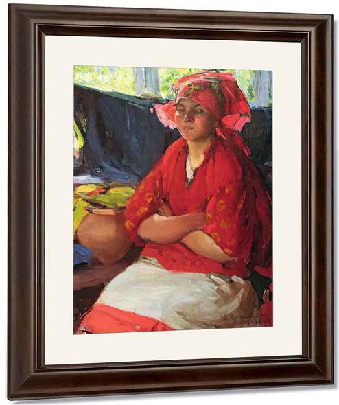 Girl In Red1 By Abram Efimovich Arkhipov