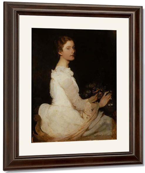 Girl In White By Abbott Handerson Thayer