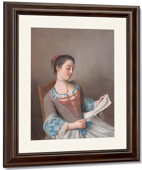 Girl Reading By Jean Etienne Liotard