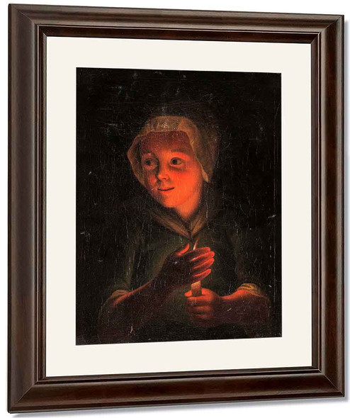 Girl With A Candle By Godfried Schalcken