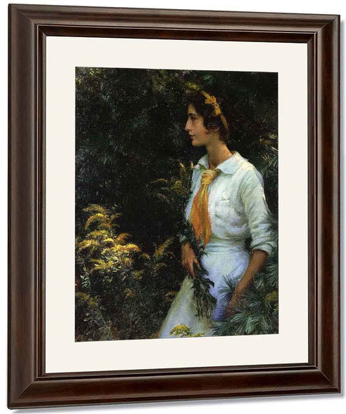 Goldenrod By Charles Courtney Curran By Charles Courtney Curran
