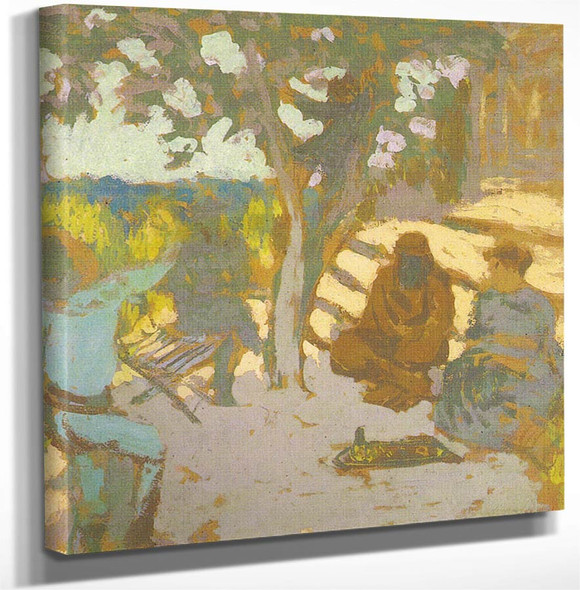 Jardin A L'etang La Ville By Edouard Vuillard(French 1868 1940) Art Reproduction