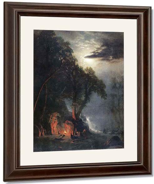 Halt At The Campsite, Yosemite By Albert Bierstadt By Albert Bierstadt