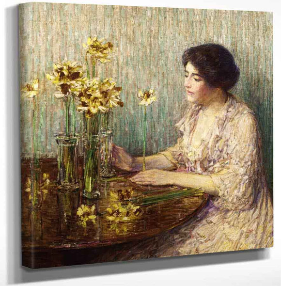 Jonquils By Frederick Childe Hassam Art Reproduction