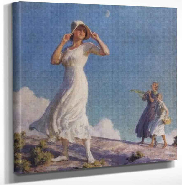 Ladies On A Hill By Charles Courtney Curran Art Reproduction