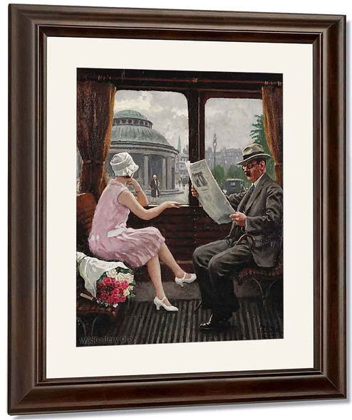 In The Train Compartment By Paul Gustave Fischer By Paul Gustave Fischer