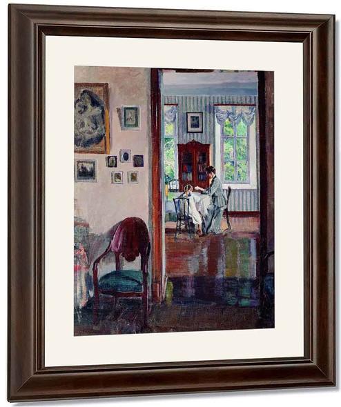 Interior 1 By Sergei Arsenevich Vinogradov Russian 1869 1938