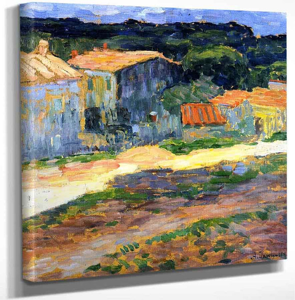 Landscape With Houses In Provence By Alexei Jawlensky Art Reproduction