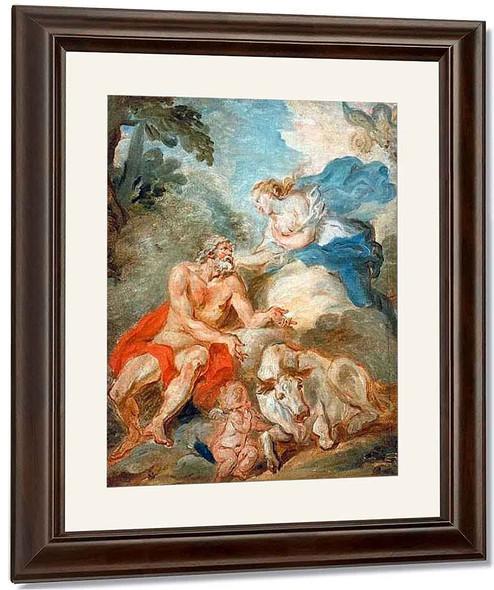 Jupiter, Io And Juno By Jean Honore Fragonard By Jean Honore Fragonard