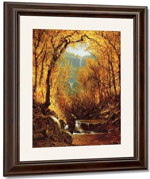 Kauterskill Falls By Sanford Robinson Gifford By Sanford Robinson Gifford