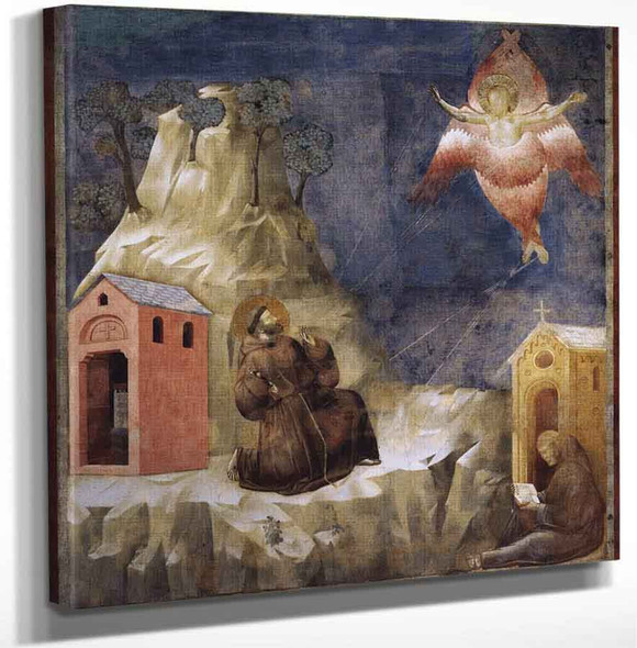 Legend Of St Francis 19. Stigmatization Of St Francis By Giotto Di Bondone Art Reproduction